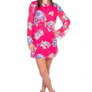 NWT EVERLY pink floral lightweight dress size M